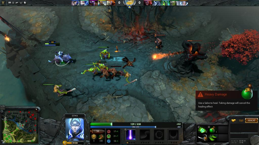 Bild eines Dota 2 Matches von www.dota2.com